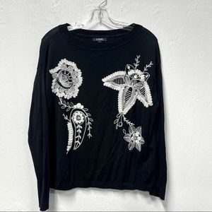 Chaps Embroidered Sweater M